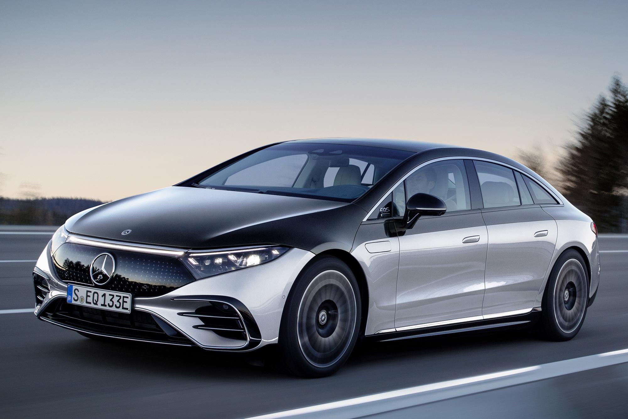 Mercedes-EQ, EQS 580 4MATIC visto 3/4 de frente