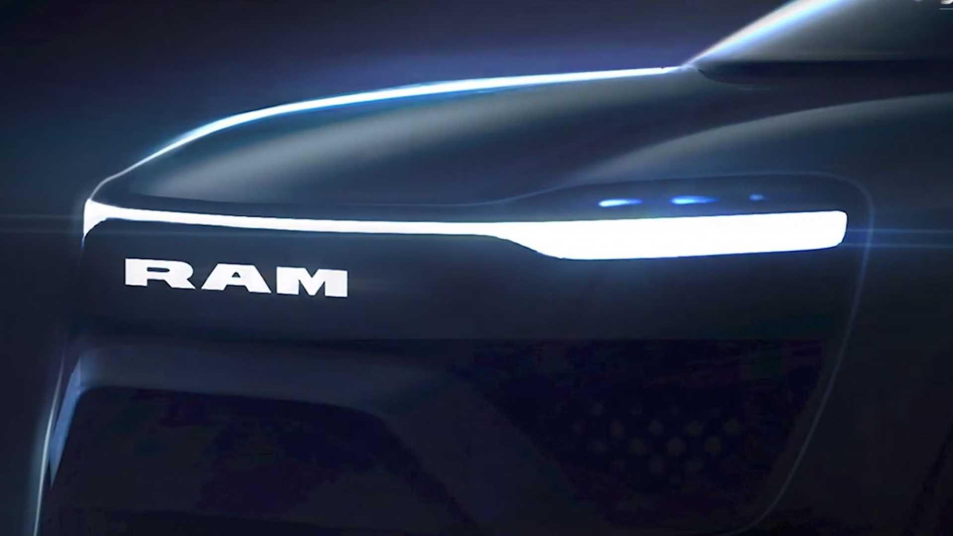 Primeiras linhas da Ram 1500 elétrica foram exibidas