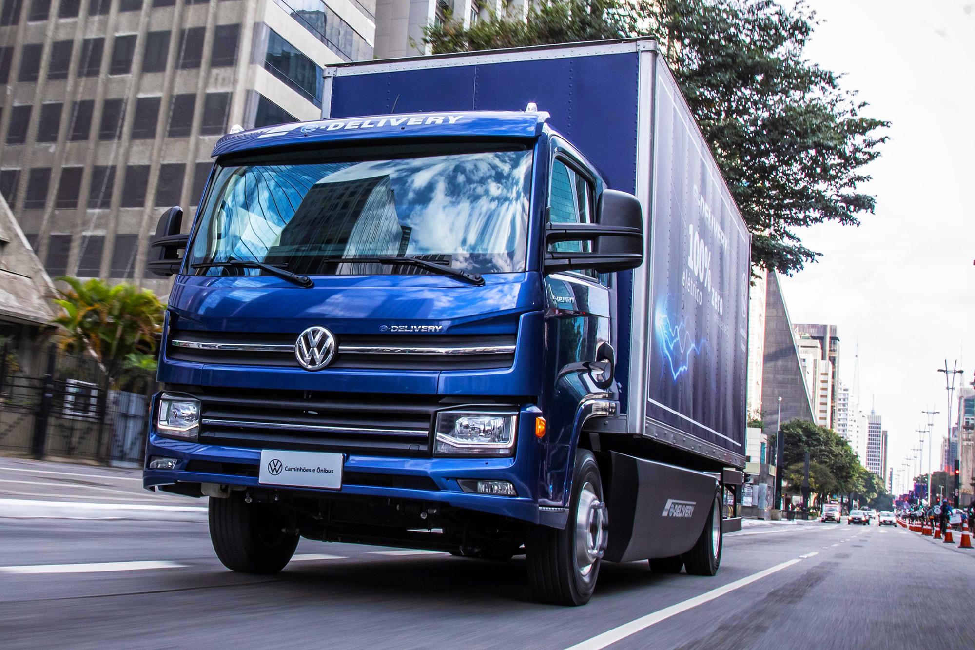 Volkswagen e-Delivery é variante menor da nova linha de caminhões elétricos da VW, concebida no Brasil