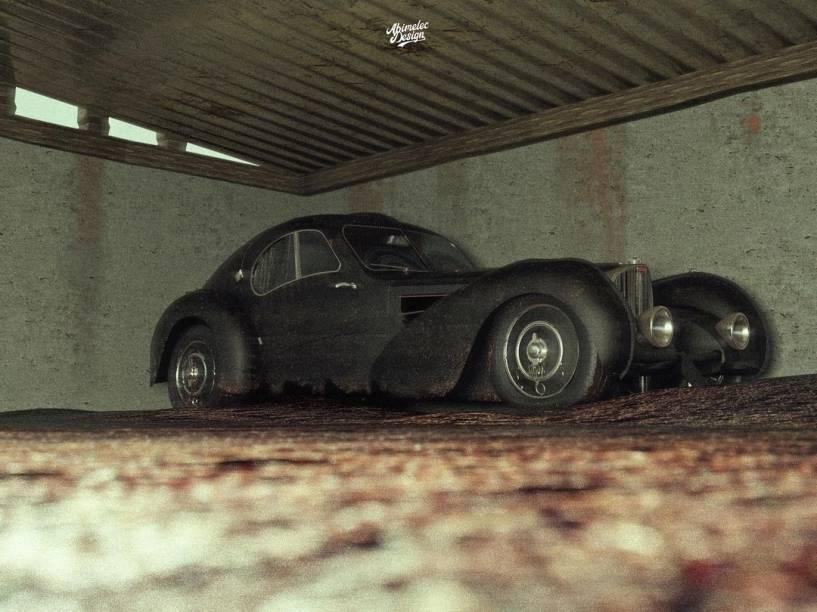 Abimelec Arellano imaginou todo o cenário do local onde a Bugatti estaria escondida por mais de 80 anos.