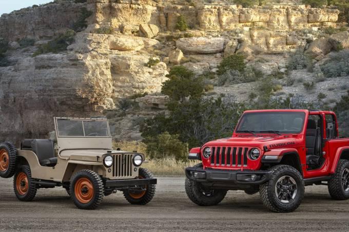 1945 Jeep® CJ-2A and all-new 2018 Jeep Wrangler Rubicon