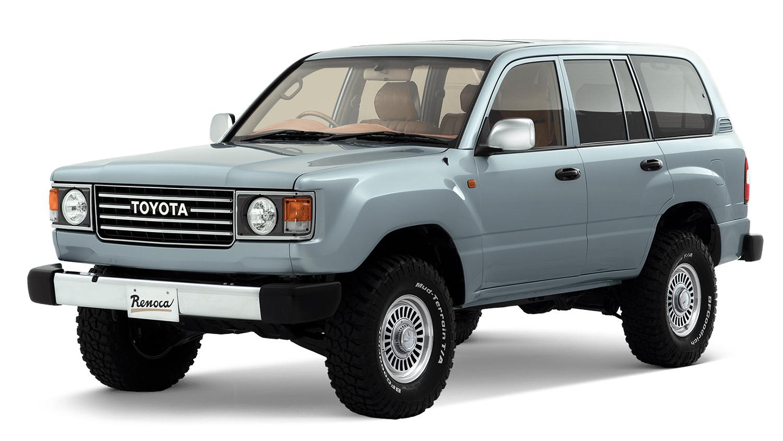 Toyota Land Cruiser 106 azul visto 3/4 de frente