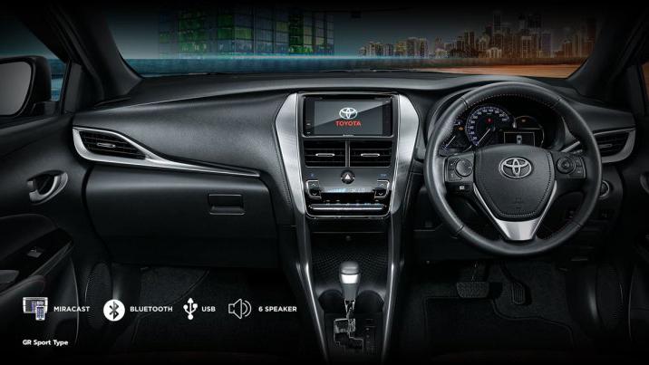 Interior do Toyota Yaris GR Sport