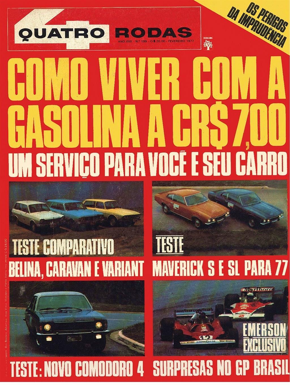 QUATRO RODAS 199, de fevereiro de 1977