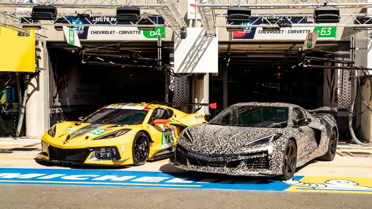 Corvette Z06 mula de testes