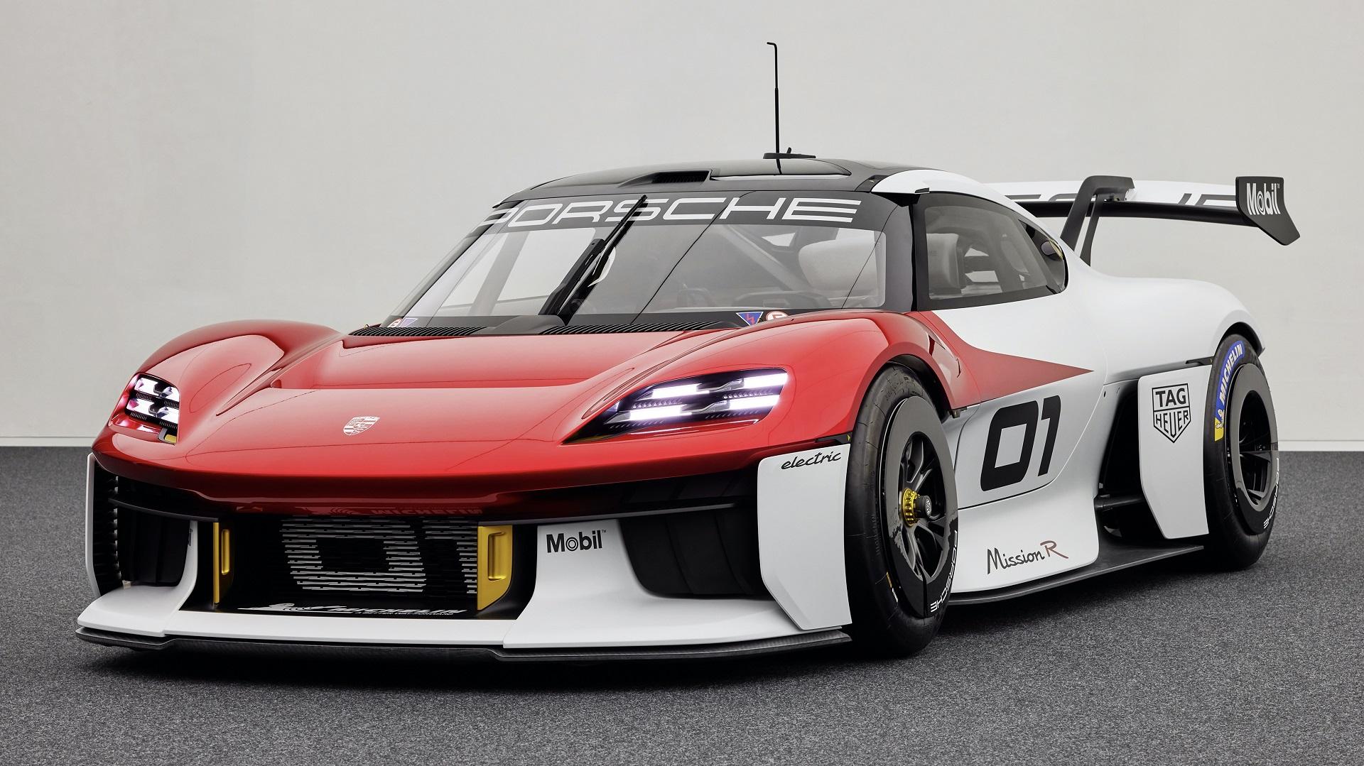 Novo Porsche Mission R, conceito apresentado no Salão de Munique de 2021