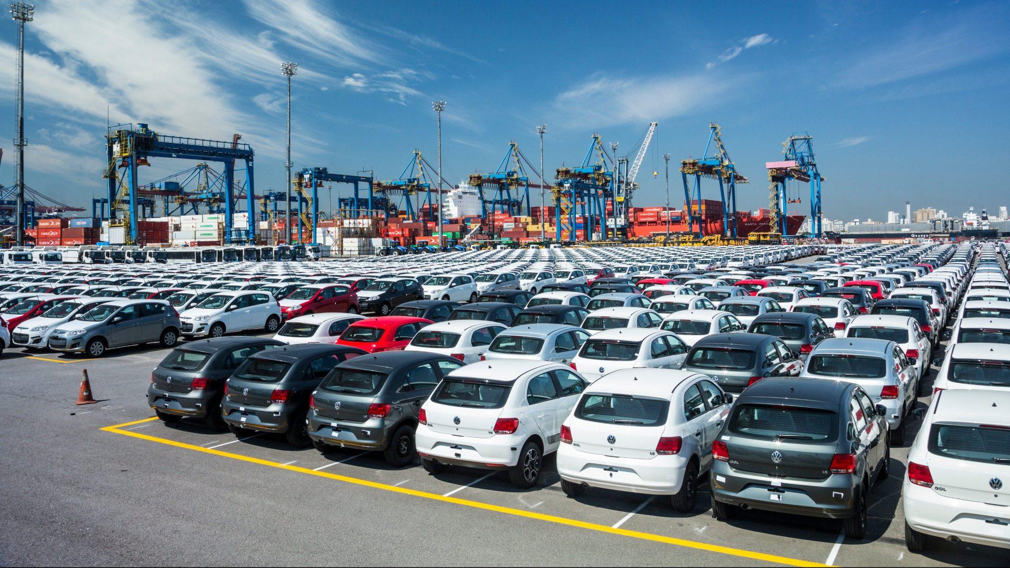 exportação de carros no porto