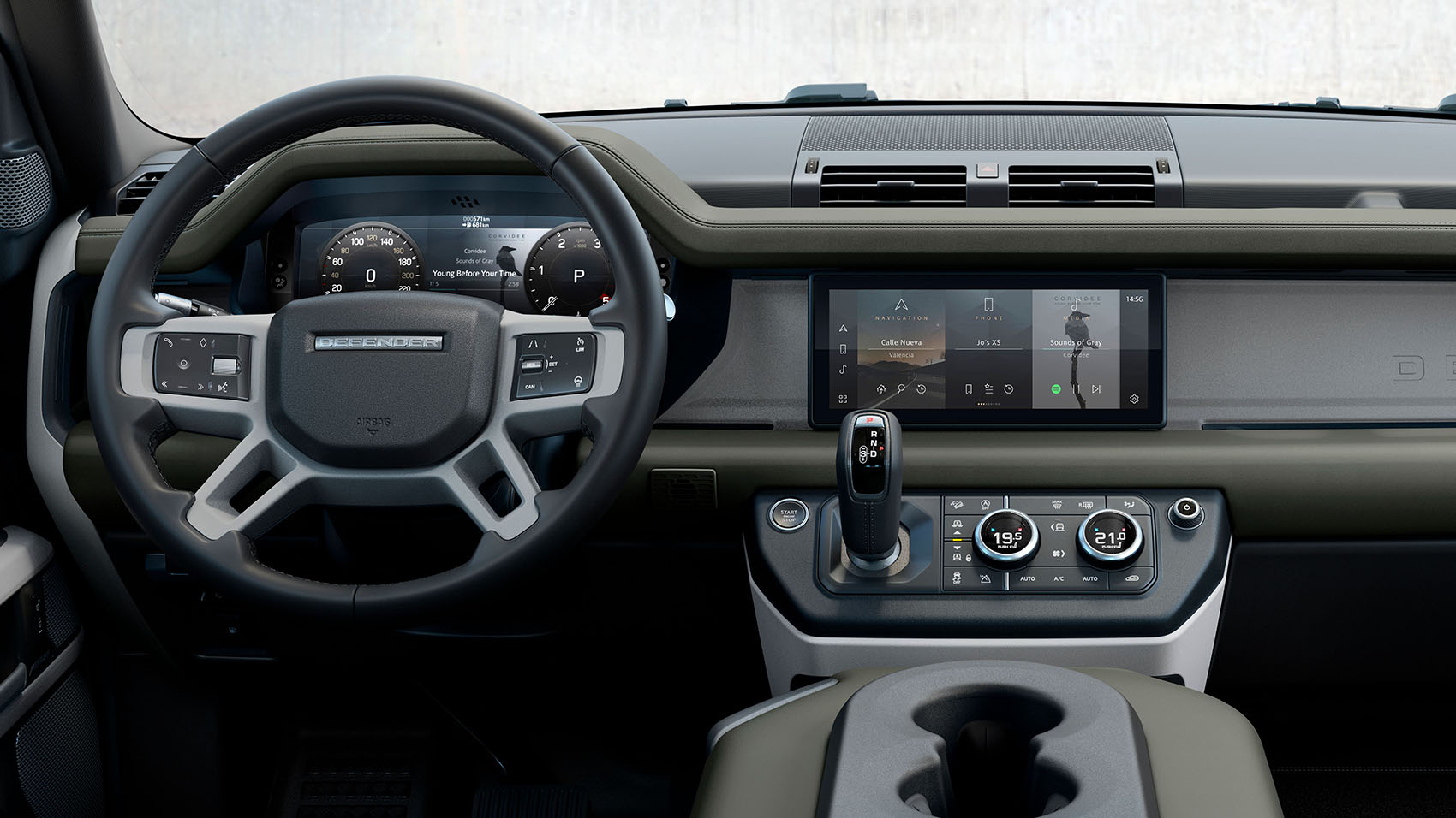 Land Rover Defender painel