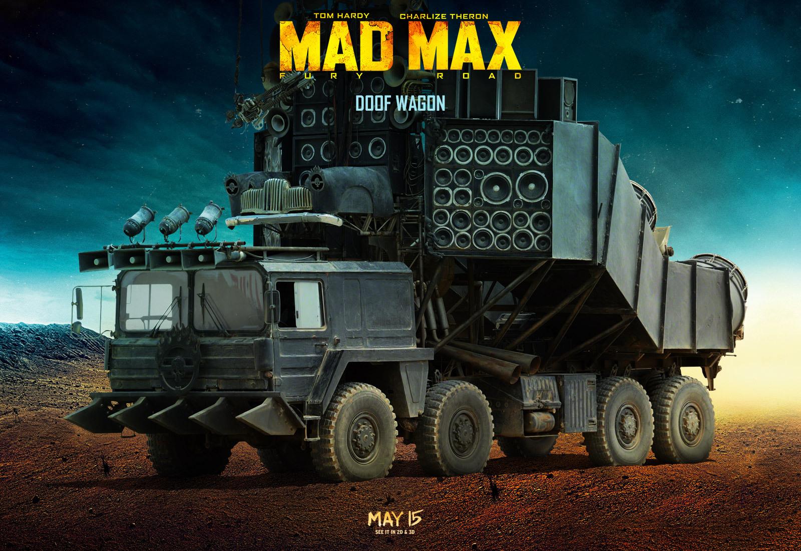 Uma das estrelas do filme, Doof Wagon é construído sobre lança-mísseis de fabricação alemã