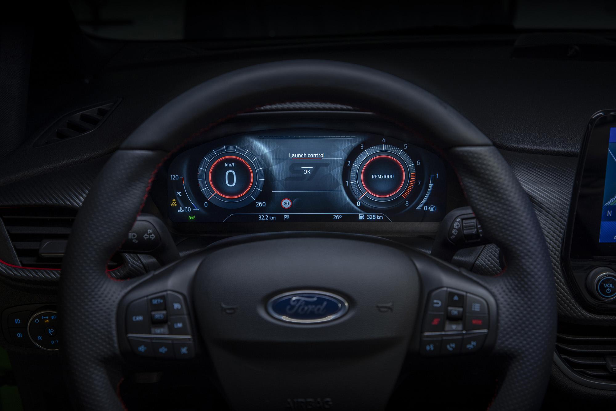 Quadro de instrumentos de 12,3 polegadas do Ford Fiesta 2021