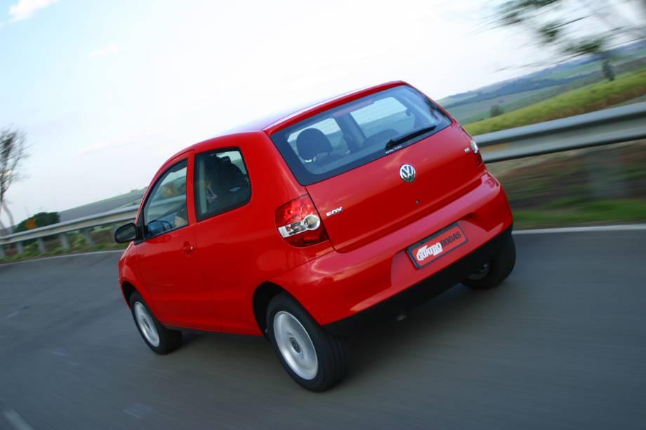 Fox 1.6 Sportline da Volkswagen, testado pela revista Quatro Rodas.