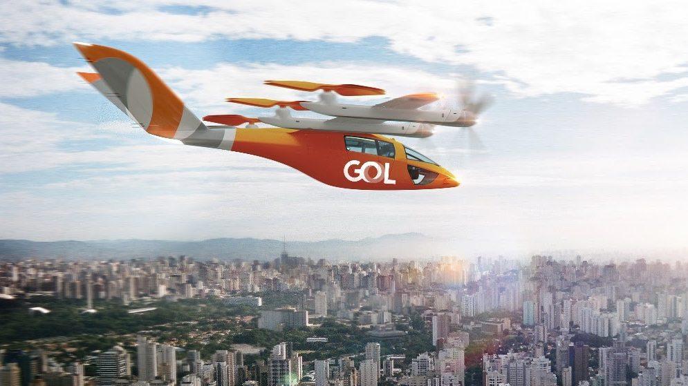 VA-X4 eVTOL da GOL laranja