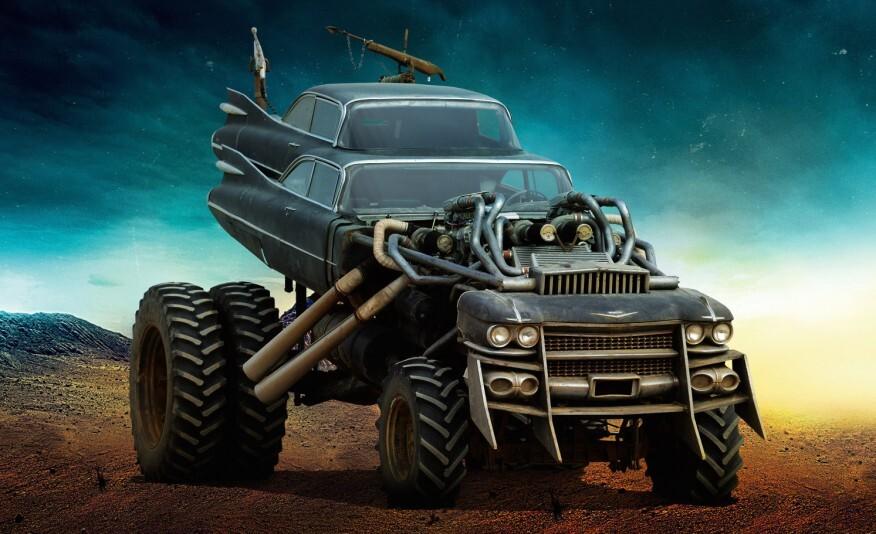 A cada viagem entre sets de filmagem o Gigahorse tinha pneus menores instalados e suspensão rebaixada