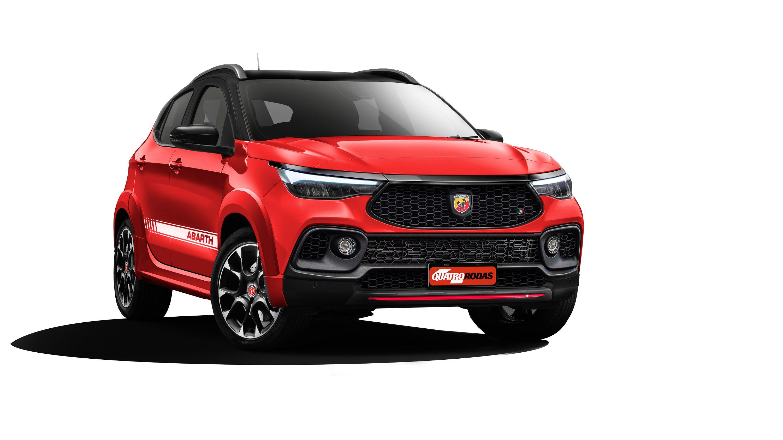 Projeção do Fiat Pulse Abarth, com estética e mecânica esportivos (Reprodução proibida)