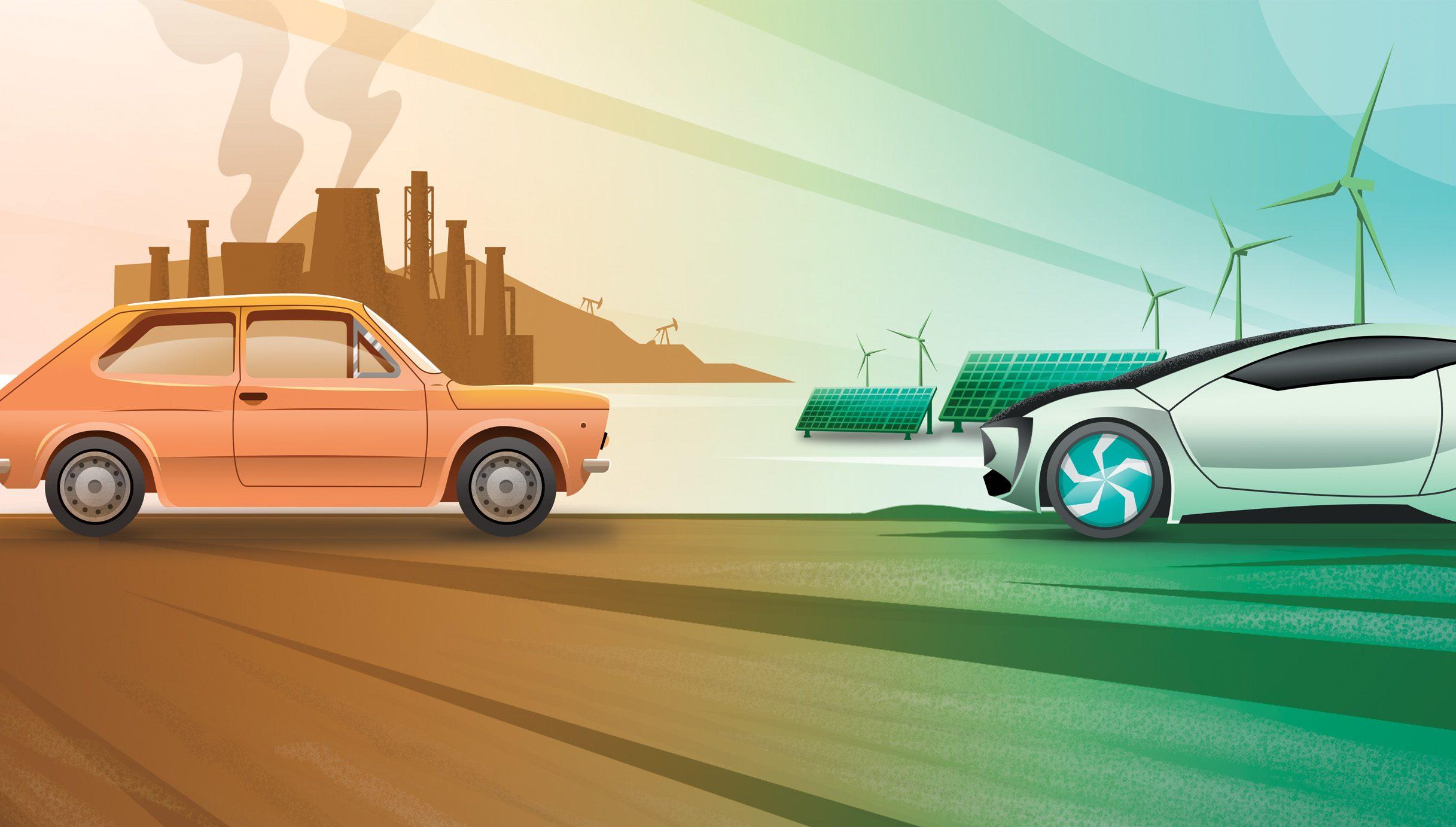 Ilustração Descarbonização