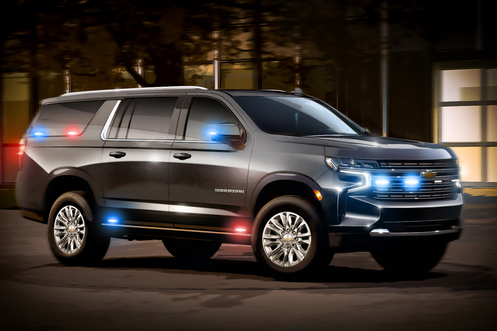 Ideia inicial do SUV pesado Suburban do governo norte-americano