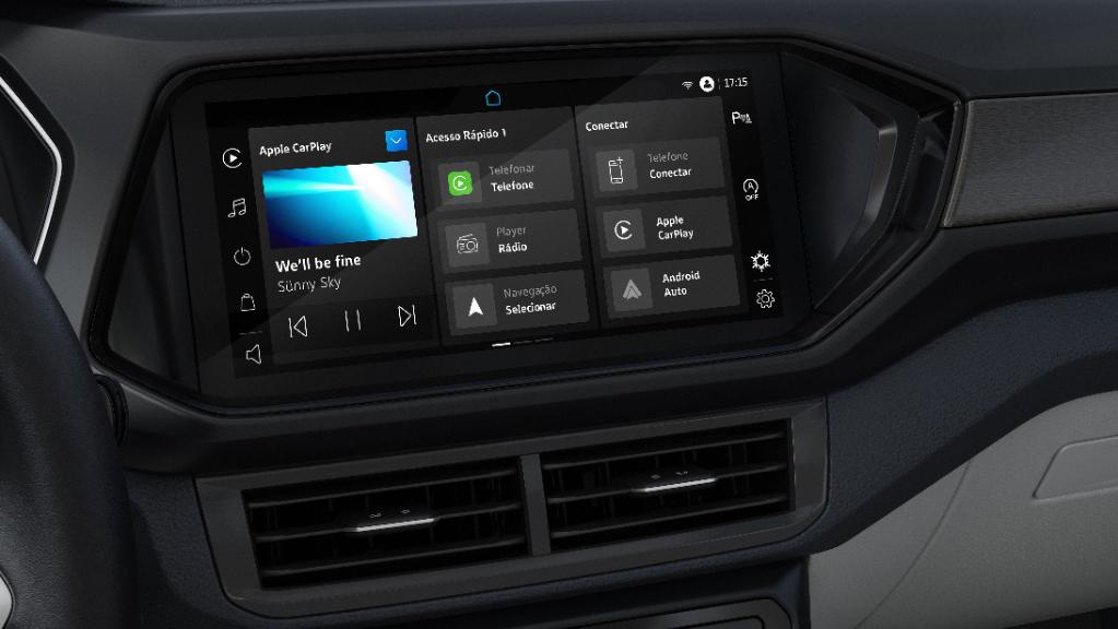 Central multimídia VW Play do Volkswagen T-Cross 2022